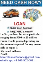 Do you need a urgent loan business loan to solve your problem email us now Are you in need of urgent loan here all problem regarding loan is solve between a short period of time with a low interest rate of 2% and duration more than 20 years what are you waiting for apply now and solve your problem or start a business with loan paying of various bills i think you have come to the right place just email us. hamzakumarfinance@gmail. Com whatspp +1 (646) 902-5821