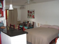 Studio 32 m. sq. Shower-bath, kitchen, balcony. Furniture, gas, hot water, Internet, A/C, fan. The studio is located in very beautiful residence with the fine tropical garden and two swimming pools. Very quiet place. 325 $ per month, electricity separately.           
