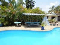 For long term / permanent tenants or simply for the winter - Small furnished apartment (65m²) with terrace, oceanview and pool in quiet residential community of Sosúa (Monte Chelo), monthly. 12.500,-RD$ (Dominican Peso) + utilities.