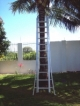 For sale: 3 part aluminium ladder, total lenght 9 meter/29 Ft. As new.