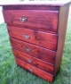 Wood Dresser For Sale - hand made, 5 drawers, measures 46.5 inches high / 33.5 inches wide / 15 inches in depth, near NEW condition, used briefly for a few months, held in storage most of the time, American owned. Sale Price 12300 pesos or $300 USD.  Price is negotiable. All reasonable offers will be considered. Located in Sosua. Pay in cash or by credit/debit card via PayPal online. Email hjvera@yahoo.com if interested. Thanks for looking.